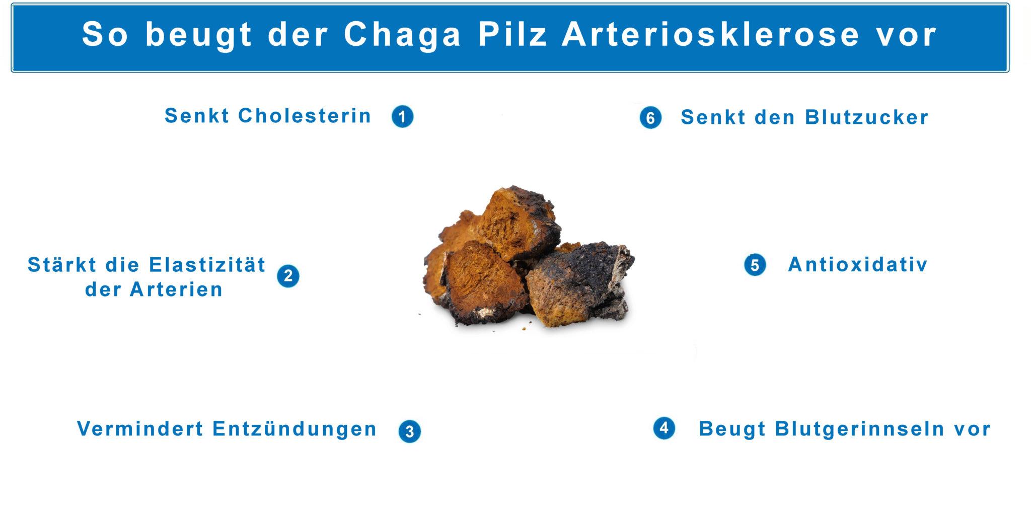 Graphik Arteriosklerose behandeln mit Chaga